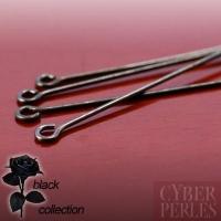 Epingles anneaux en métal noir