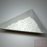 Perles rocailles blanc opaque - environ 6 gr