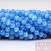 Perles oeil de chat bleu ciel 4 mm