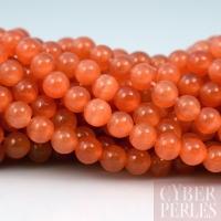 Perles oeil de chat orange 4 mm