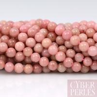 Perles rondes en Rhodonite 3 mm
