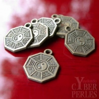 """Pendentif chinois octogone """"Protection"""""""