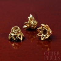 Perle caps de Bali en vermeil - 5 mm