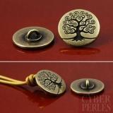 Bouton finition bronze antique - arbre de vie