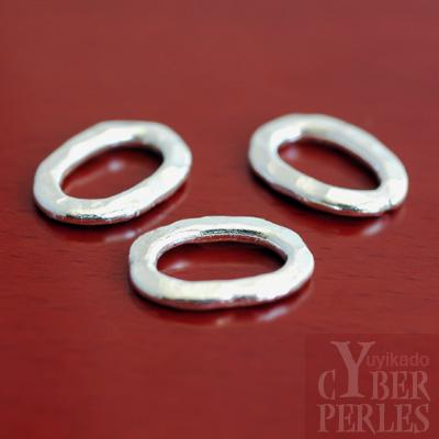 perle en argent karen anneau martel ovale yth366 cyberperles. Black Bedroom Furniture Sets. Home Design Ideas