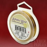 Artistic wire - 0,64 mm - laiton traité anti-ternissement