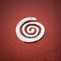Breloque spirale en argent 925/1000