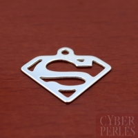 Breloque Superman en argent 925