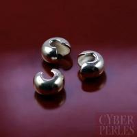 Coques de recouvrement argentées 3 mm