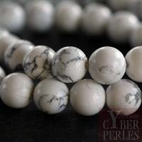 Perles rondes en howlite 10 mm