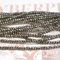 Perles rondelles facettées en pyrite
