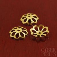 Perle caps  filigree en vermeil - 8,8 mm