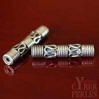 Perle de Bali en argent 925/1000 - tube