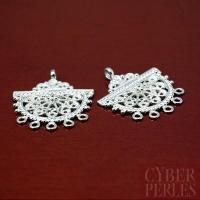 Chandelier style oriental en argent clair