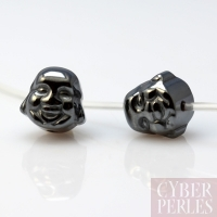 Perles tête de Bouddha en hématite 8 mm