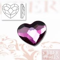 Coeur à coller cristal Swarovski - fuschia