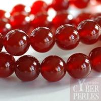 Perle ronde en cornaline 12 mm