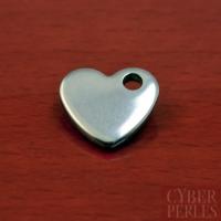Breloque coeur en acier inoxydable