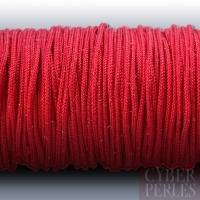 Cordon en tresse de soie 2,5 mm - rouge