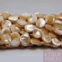 Perles pastilles en nacre - 10 mm