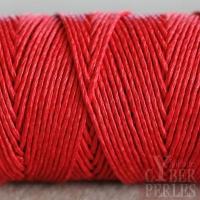 Fil de chanvre 1 mm - rouge