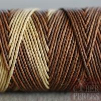 Fil de chanvre 1 mm - 3 tons couleurs terre