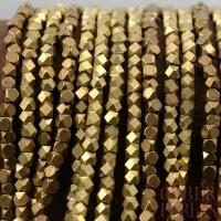 Perles facettées en laiton 3 mm