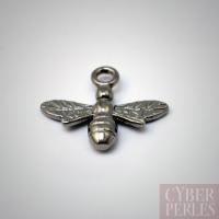 Breloque en argent noir - abeille