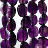 Perles pépites en améthyste grade A