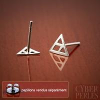 Clous d'oreilles en argent - triangles