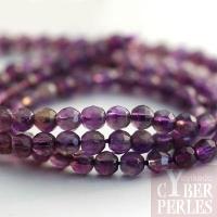 Perles facettées en améthyste 4 mm