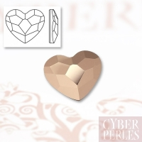 Strass Swarovski coeur 6 mm - rose gold
