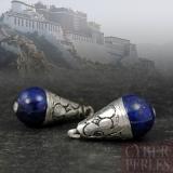 Pendentif tibétain en argent et lapis lazuli