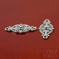 Chandelier en argent style oriental - double coeur