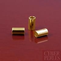 Perles à écraser dorées pour élastique 1 mm