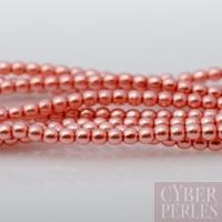 Perles tchèques nacrées 2 mm - rose saumon