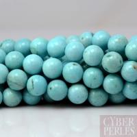 Perle ronde en larimar - 8 mm