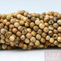 Perles facettées jaspe paysagé 3 mm