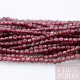 Perles facettées en grenat - 1,6 mm