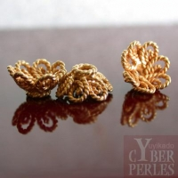 Perle de Bali en vermeil - caps 10 mm