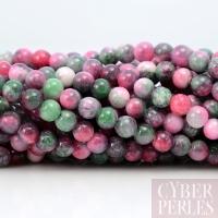 """Perles rondes en """"jade candy"""" 4 mm"""
