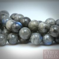 Perle ronde en labradorite 12 mm