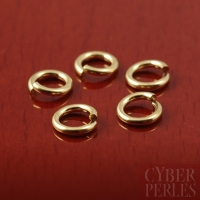 """Anneau """"jumplock"""" gold filled 6 mm"""