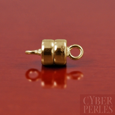 Beadalon 6mm Round Magnetic Clasps Gold 2 Clasps