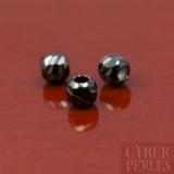 Perles facettées en argent oxydé - 3 mm