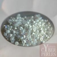 """Perles tchèques en verre -  """"Litchees"""""""