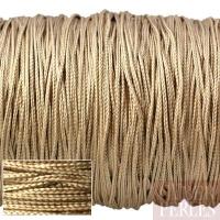 Cordon en tresse de soie 0,8 mm  - beige