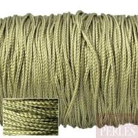 Cordon en tresse de soie 0,8 mm - kaki clair