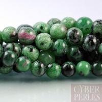 Perle ronde en rubis zoisite 10 mm
