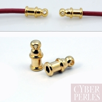 Embout fin de corde pour cordon 2 mm - doré